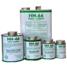 RH Adhesives HH-66 Clear Vinyl Cement Glue with Brush Industrial Bond Strength