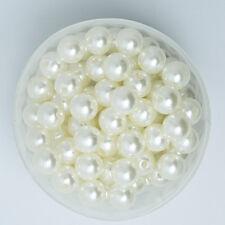 Lot 10 Perle imitation 10mm Blanc Cassé perle de culture creation Bijoux Collier