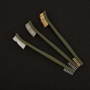 3pcs Wire Brush Set Steel Metal Brass Nylon Cleaning Polishing Rust Brush MetK1