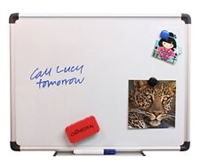 Cathedral Whiteboard Drywipe Magnetic with Pen Tray and Aluminium Trim 30x45cm