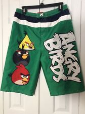 Angry Birds Green Boys Swimming Trunk Shorts Size XL