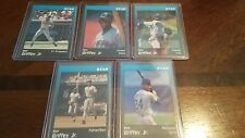 1991 Star Company Ken Griffey 5 Card Glossy Blue Black Set Very Rare Near Mint