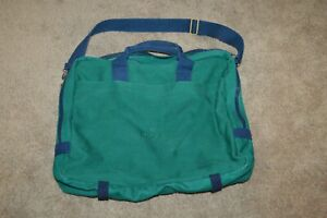 RARE VINTAGE ROLEX GREEN CANVAS BRIEF CASE TRAVEL TOTE BAG (unisex)