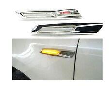 2x Chrome LED Side Turn ligths signal For BMW E60 E82 E87 E88 E90 E91 E61 E81
