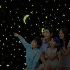 18PCS Hot Creative Glow in the Dark Stars Moon Wall Room Ceiling Decals Stickers