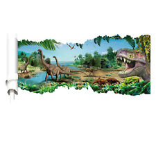 XXL 3D Aufkleber Dinosaurier Jungel T-Rex Kopf Wanddurchbruch Wandtattoo Kinder