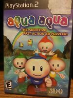 Aqua Aqua PS2 Sony Playstation 2 Complete CIB Tested & Working Puzzle Game