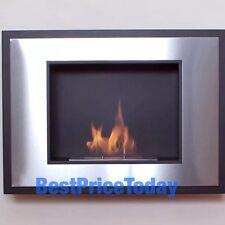 Nuevo simple llama Arte Moderno Bio Etanol Montado En La Pared De Fuego Acero Inoxidable Mat