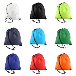 Portable Drawstring Storage Bag Nylon Backpack Waterproof Travel Pouch Bag Solid