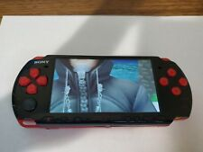 Sony PSP 3001 god of war edition black n red