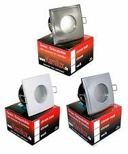 LED Decken Einbauleuchte AQUA SQUARE IP65 Feuchtraum Strahler GU10 230V Au�Ÿen