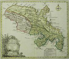 Kupferkarte 1763 - MARTINIQUE Karibik / Westindisch Eiland Martenique - Tirion