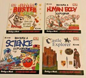 DK Educational CD-ROMs (4), Science, Biology, Castles, Brain Quiz