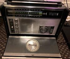 More details for zenith solid state trans oceanic royal 7000-1 vintage am fm transistor radio