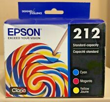 Epson 212 Standard Capacity Color 3 Pack Cartridges CMY Sealed Boxes Ex 05/2024