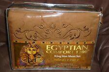 Egyptian Comfort 1200 thread count KING sheet set- Brown  Deep Pockets   NEW