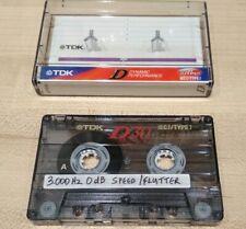 Test tape speed/flutter, azimuth calibration cassette, 3 Khz 0 dB, 10 Khz -10db.