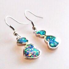Echter Edelsteine-Ohrschmuck mit Opal und Herz für Damen