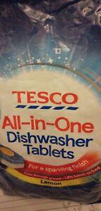 TESCO all in one dishwasher lemon 4 -20 tablets ( Uk Seller Fast Delivery)
