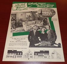 KELLOGG'S ORIG 1948 MR. BLANDINGS BUILDS HIS DREAM HOUSE SKETCH PLANS CARY GRANT