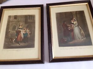 "2 Vintage Cries of London Framed Prints - F. Wheatley - 10.3/4"" x 8"""