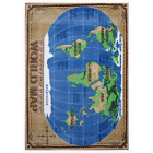 Supreme World Map Multi Colored 3 Ft. X 4 Ft. Area Rug