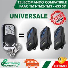TELECOMANDO PER CANCELLO AUTOMATICO UNIVERSALE A 433,92 MHZ FADINI,BFT,CAME,FAAC