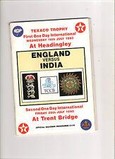 India Cricket Programmes