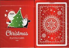 Christmas Playing Cards Poker Size Deck USPCC Santa Penguin Custom Limited New
