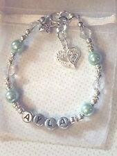 Personalised charm Bracelet Birthday, wedding favour bridesmaid flower girl