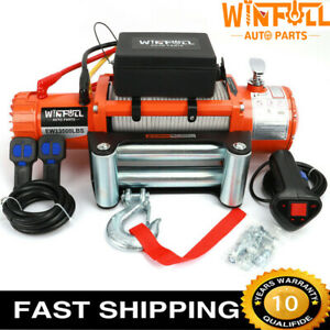 Electric Recovery Winch 12v 13500lb Heavy Duty Steel Cable - WINFULL BRAND