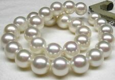 """HUGE 18""""11-12mm natural south sea Genuine White round pearl necklace AAA"""