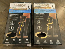 Lot of 2 NEW Copper Fit Energy Compression Socks Unisex Small 2 Pairs