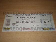 Ticket Entrada Boleto Recital Concert Robbie Williams 2006 Argentina