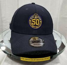 MILWAUKEE BREWERS~MLB~NEW ERA~9FORTY~50 GOLDEN ANNIVERSARY~BLACK~ADJUSTABLE