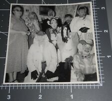 HALLOWEEN PARTY Costume MASK Scary Funny Women 1940's Vintage PHOTO 2