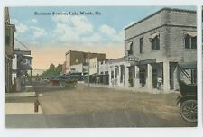 Early! Business Section LAKE WORTH FL Vintage Florida Postcard