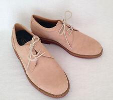 ROCKPORT MEN'S OXFORDS - Size 9.5 - plain toe lace-ups - Tan Beige Suede Leather