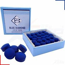 Blue Diamond Leather Snooker Pool Billards Cue Tips 9, 10 or 11mm
