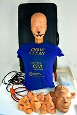 Ambu Chris Clean Man CPR EMT Training Manikin First Aid case, Torso, And Extras