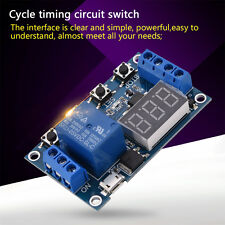 DC 9V 12V Digital LED Trigger Delay Cycle Timer Relay Module +Micro USB Useful