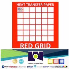 RED Grid Inkjet Heat Transfer Paper Iron On Light 20 Pk A4 :) top seller
