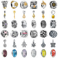 925 European Sterling Fashion Silver Charms Bead for Bracelet Chain Necklace BB6