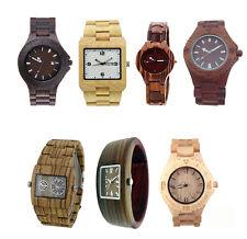 Orologio da polso in legno naturale uomo donna analogico elegante Watch datario