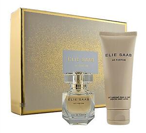 Elie Saab Le Perfume 30ml Eau de Parfum & 75ml Loción Corporal Nuevo & Embalaje