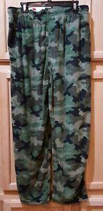 Fruit of the Loom Men's Camouflage Fleece Lounge Pants w/Pockets, L (36-38)