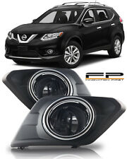 For 2014-2016 Nissan Rogue Clear Lens Fog Light Lamp Full Complete Kit Pair