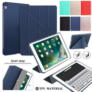 """For iPad Pro 11/12.9/10.5/10.2/Air 4th 10.9"""" Smart Case Leather Stand Flip Cover"""