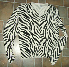 Guc Gymboree girls size Large L 10 12 zebra print cardigan top animal safari