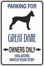 """*Aluminum* Parking For Great Dane Owners Only 8""""x12"""" Metal Novelty Sign S313"""